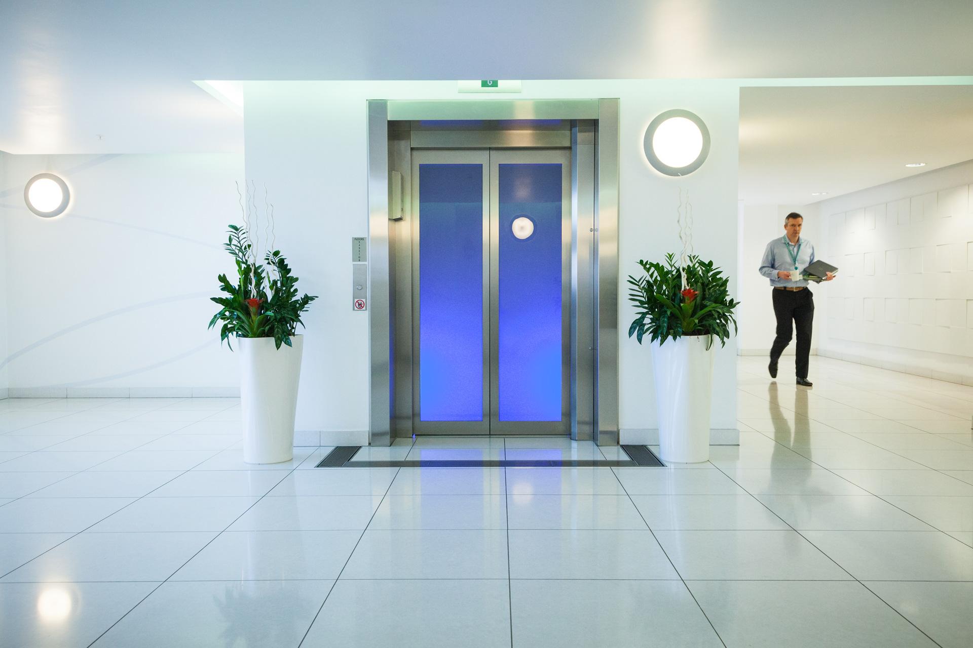 Lift lobby at Broad Gate